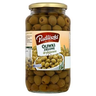 Pudliszki Grüne Oliven entsteint 900 g