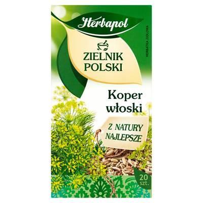 Herbapol Zerbapol Zielnik Polski Koper wloski Herbatka ziolowa 40 g (20 Beutel)