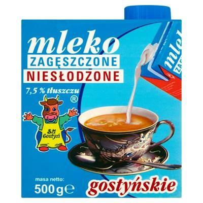 SM Gostyn Milch, konzentriert, ungesüßt 7,5% 500 g 6 Stück