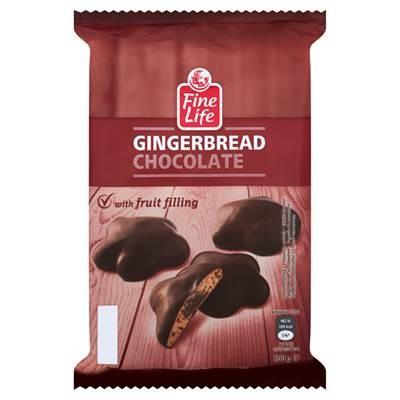 Fine Life Schokoladenlebkuchen mit Fruchtfüllung 200 g