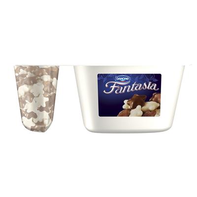 Danone Fantasia Cremejoghurt mit Sternen in Schokolade 106 g 12 Stueck