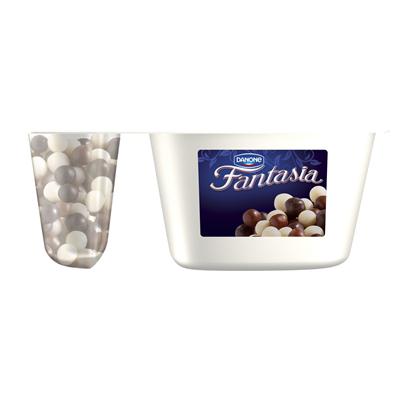 Danone Fantasia Creme-Joghurt mit Schokoladenkugeln 100 g 12 Stück