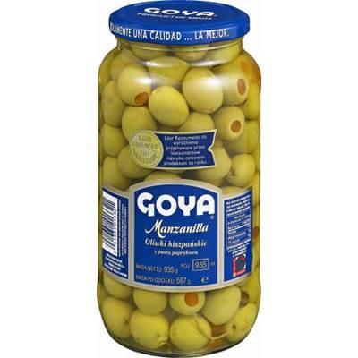 Goya Grüne Oliven mit Paprika 935 G / 569 G