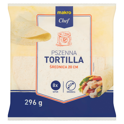 Makro Chef Tortilla Weizenfladen 296 g (8 x 37 g)