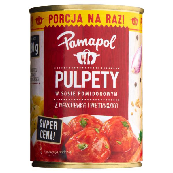 Pamapol Fleischbällchen in Tomatensauce mit Karotten und Petersilienwurzel 380 g