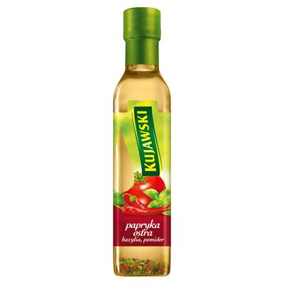 Kujawski Rapsöl mit scharfer Paprika, Tomaten und Basilikum 250 ml