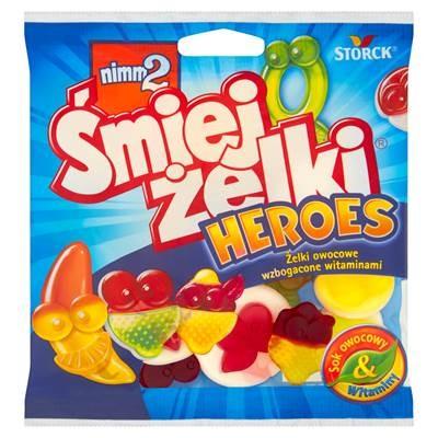 Nimm2 Smiejzelki Heroes Heroes Fruchtgelees angereichert mit Vitaminen 90 g