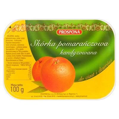 Prospona Orangenschale für Kuchen und Desserts. 100 g 3 Stücki