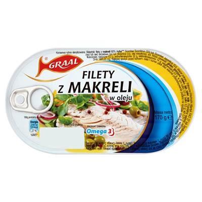 Makrelenfilet in Öl Graal 170G 3 Stück