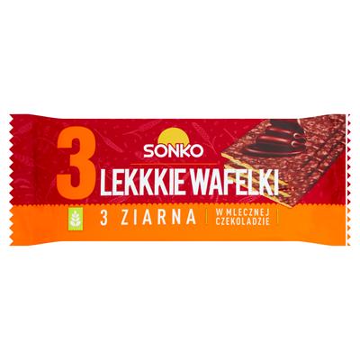 Sonko Leichte Dreikorn-Waffeln mit Milchschokolade 36 g