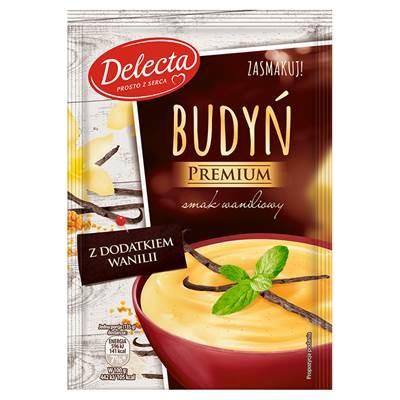 Delecta Premium Vanillegeschmackspudding mit Vanillezusatz 47 g