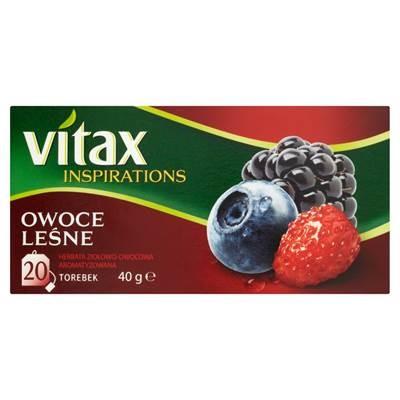 Vitax Inspirations Owoce lesne Herbata ziolowo-owocowa 40 g (20 Beutel)