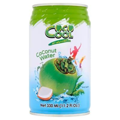 Coco Cool Wasser aus dem Inneren einer Kokosnuss mit Kokosnussstücken 330 ml