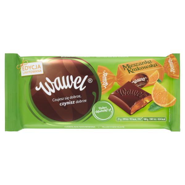 Wawel Mieszanka Krakowska Orangengeschmack gefüllte Schokolade 105 g