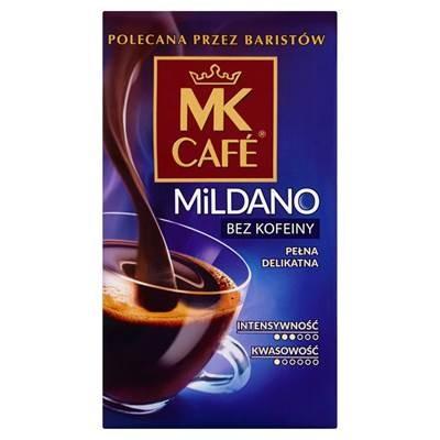 MK Café Mildano gerösteter, gemahlener Kaffee ohne Koffein 250 g