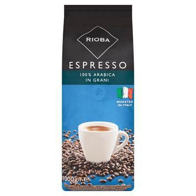Rioba Espresso Geröstete Kaffeebohnen Platinum 1 kg