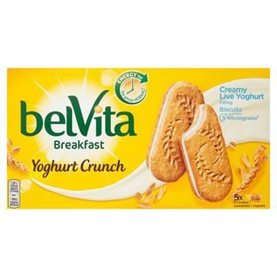 belVita Breakfast Yoghurt Crunch Getreidekuchen 253 g (5 x 2 Stück)