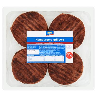 Gegrillte Hähnchenburger mit Schweinefleischzusatz 1,6 kg