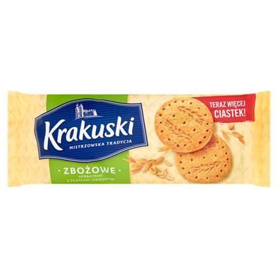 Krakuski Getreidecracker mit Haferflocken 201 g