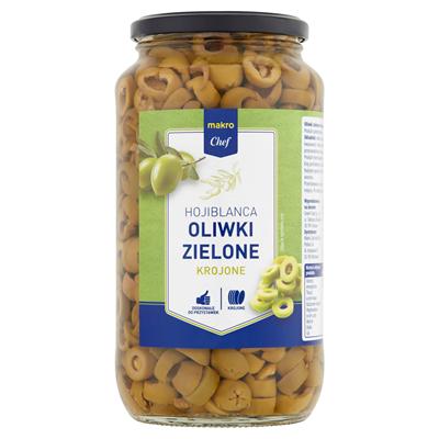 Grüne Oliven in Scheiben geschnitten 900 g