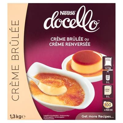 Nestlé Docello Crème Brûlée i Crème Renversée Deser in Pulverform 1,3 kg