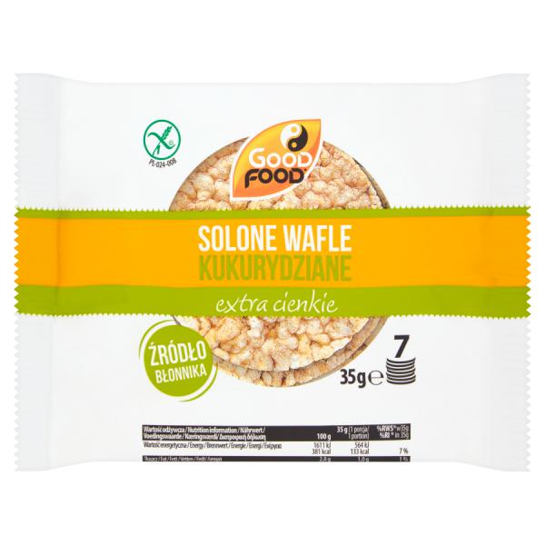 Good Food Wafle kukurydziane solone 35 g (7 sztuk)
