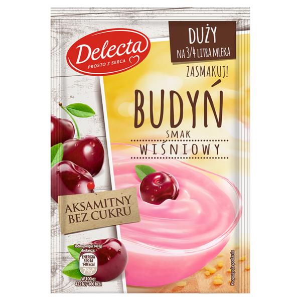 Delecta Pudding mit Kirschgeschmack 64 g