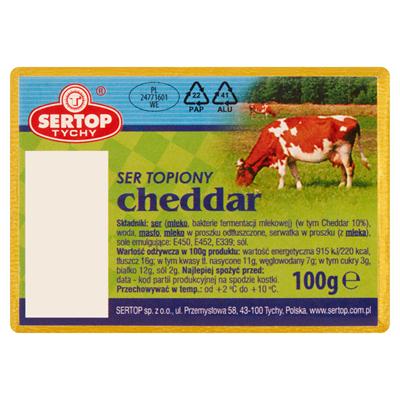 Sertop Cheddar geschmolzener Käse, Block 100 g 10 Stück