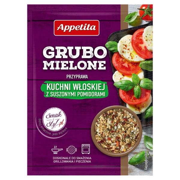 Appetita Grubo mielone Przyprawa kuchni włoskiej z suszonymi pomidorami 30 g