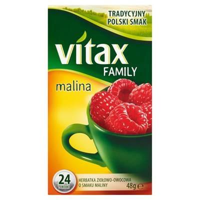Vitax Family Kräuter-Früchtetee mit Himbeergeschmack 48 g (24 Beutel)