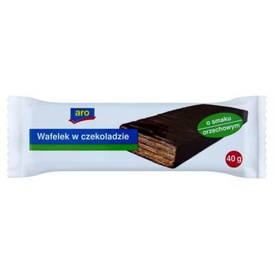 Waffel mit Walnussgeschmack in Schokolade 40 g 20 Stück