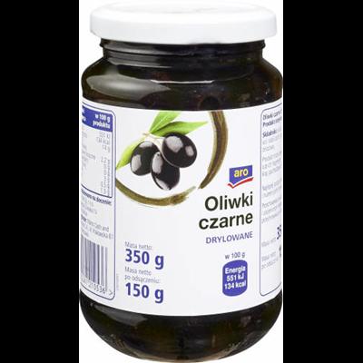Schwarze Oliven entkernen 350 g 12 Stück