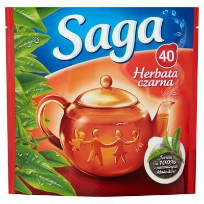 Saga Schwarzer Tee 56 g (40 Beutel)