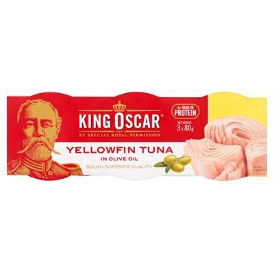 King Oscar Gelbflossenthunfisch in Olivenöl 3 x 80 g