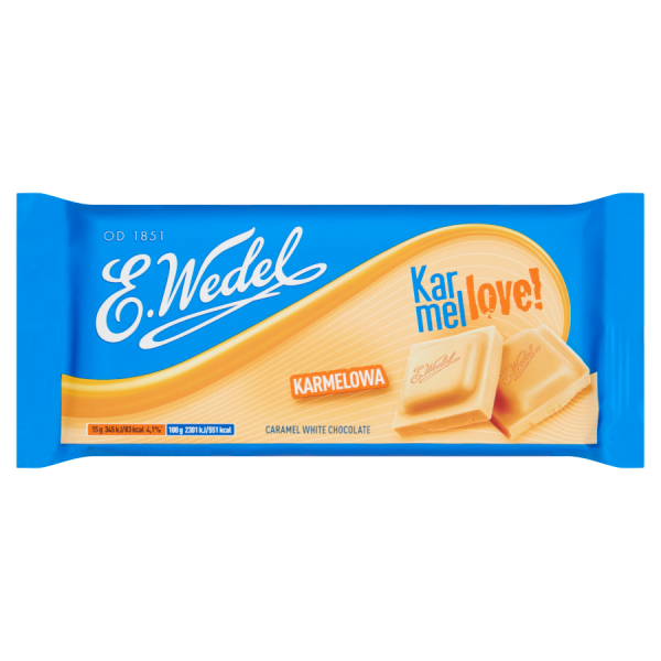 E. Wedel Karmellove! Weiße Karamellschokolade 90 g