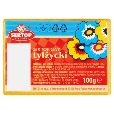 Sertop Geschmolzener Käse Tylzycki, Block 100 g 10 Stück