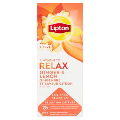 Lipton Fruechtetee mit Ingwer- und Zitronengeschmack 40 g (25 x 1,6 g)