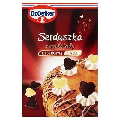 Dr. Oetker Herzen aus dunkler und weißer Schokolade 45 g (72 Stück)