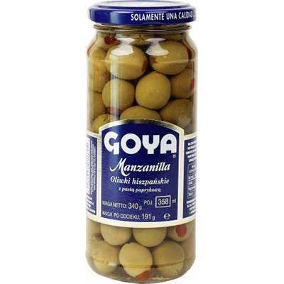 Goya Grüne Oliven mit Paprika 340 g