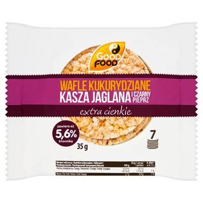 Good Food Maiswaffeln extra dünne Hirse und schwarzer Pfeffer 35 g