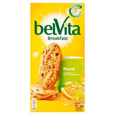 belVita Frühstücksmüsli mit Früchten Vollkornkekse 300 g (6 x 4 Stück)