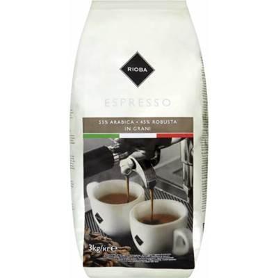 Rioba Espresso gerösteter Kaffee, 3 kg