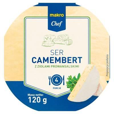 Makro Chef Käse Camembert Kräuter 120 g