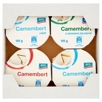 Aro Käse Camembert mix 105 g 4 Stück