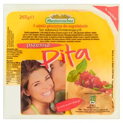 Mestemacher Weizen Pita 265 g (4 Stück)