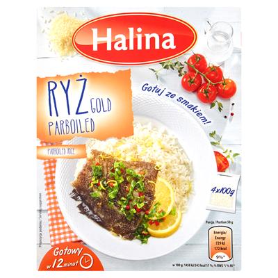 Halina Gold Parboiled Reis 400 g