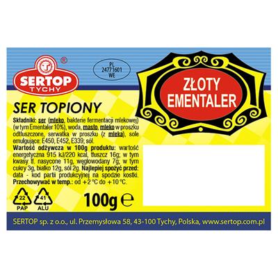 Sertop Emmentaler Block geschmolzener Käse 100 g 10 Stück