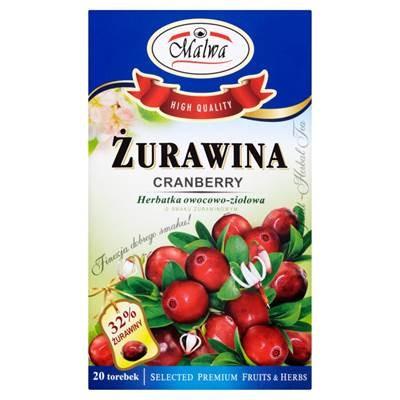 Malwa Cranberries Obst- und Kräutertee 40 g (20 Beutel)