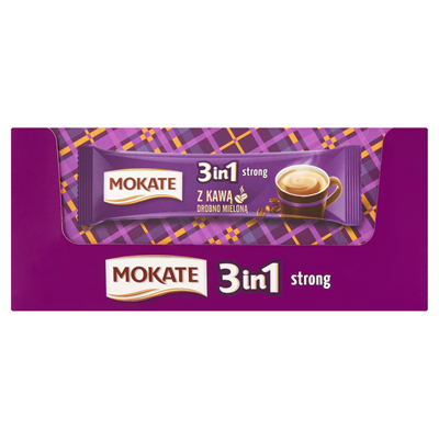 Mokate 3in1 Strong Loesliches Kaffeegetraenk in Pulverform 255 g (15 x 17 g)