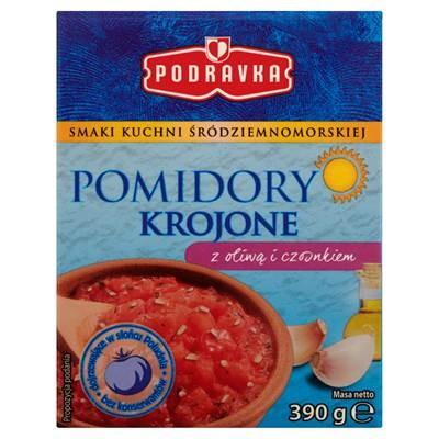 Podravka-Tomaten mit Olivenöl und Knoblauch geschnitten 390 g